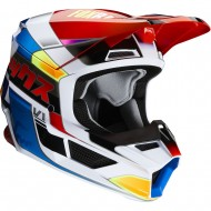 CASCO INFANTIL FOX V1 YORR 2020 COLOR AZUL/ROJO