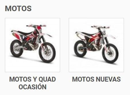 Sección de Motos en MotocrossCenter