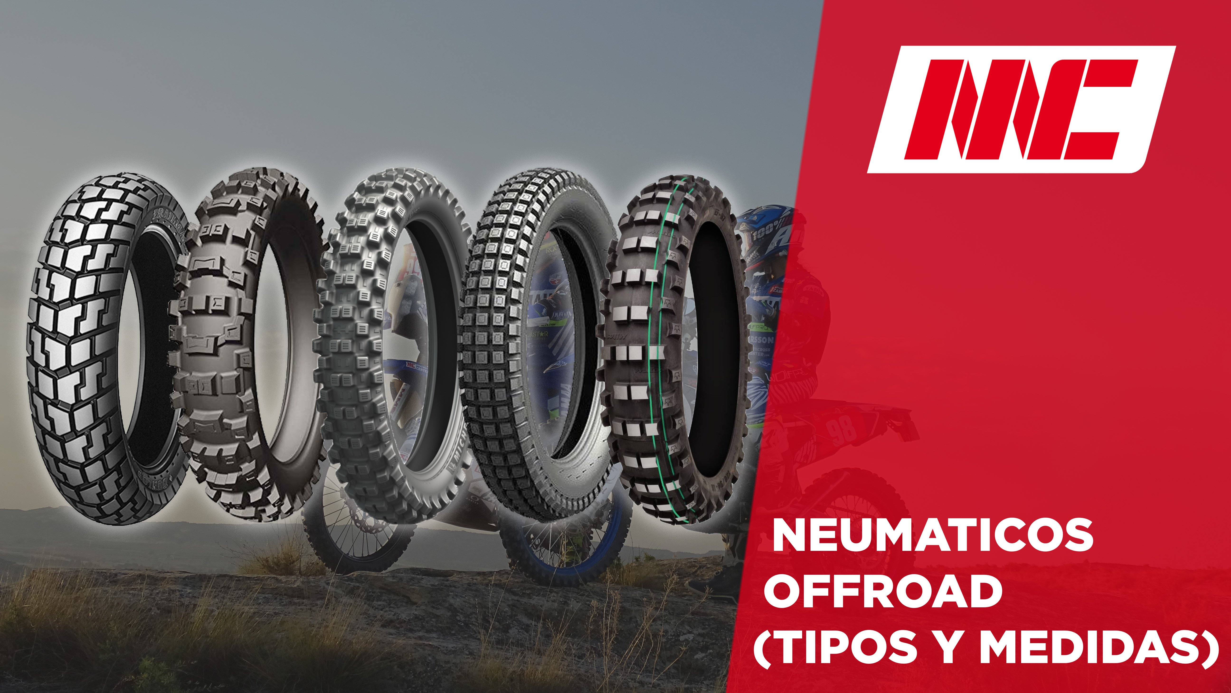 tipos de neumáticos para moto offroad enduro motocross trial trail