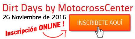 Inscripción Dirt Days 2015 by MotocrossCenter